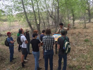 Tri City Prep High school students on a field day learning about invasive ecology & management.