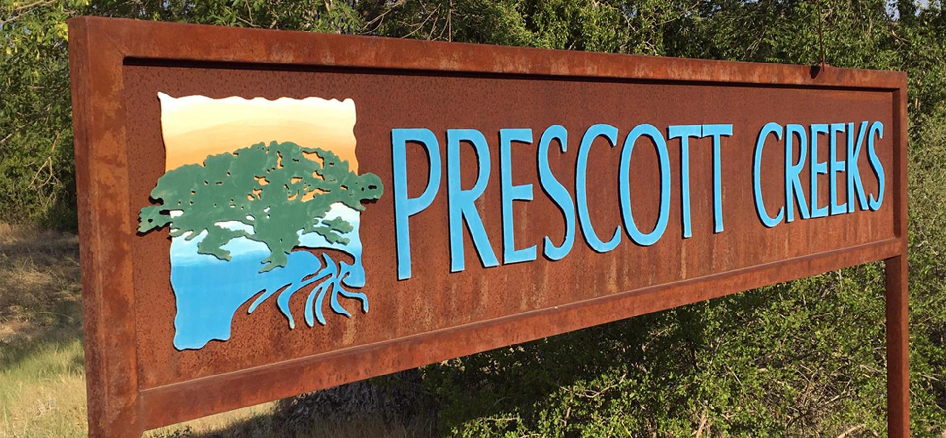 Prescott Creeks Sign